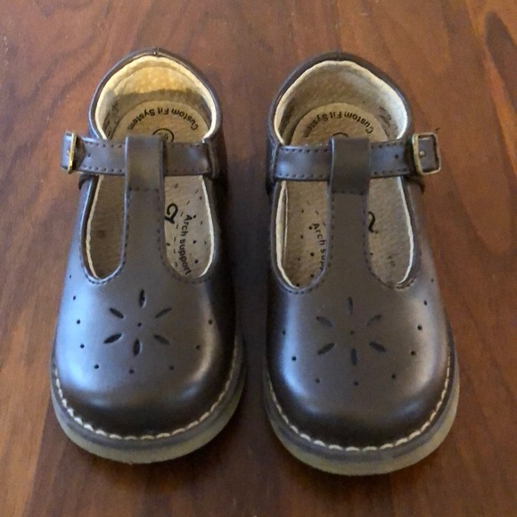 Footmates Toddler Brown Leather Mary
